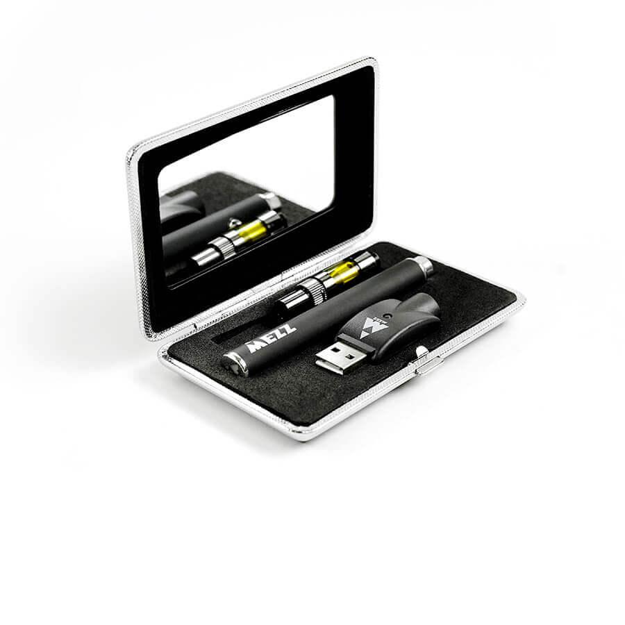 Mezz Battery Kit Embossed Logo/Black Battery, Vanity Mirror